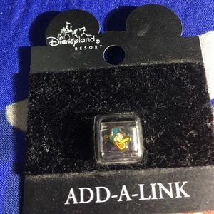 Disneyland resort vintage add a link charm Donald